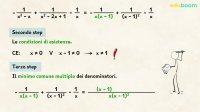 Somma e differenza di frazioni algebriche